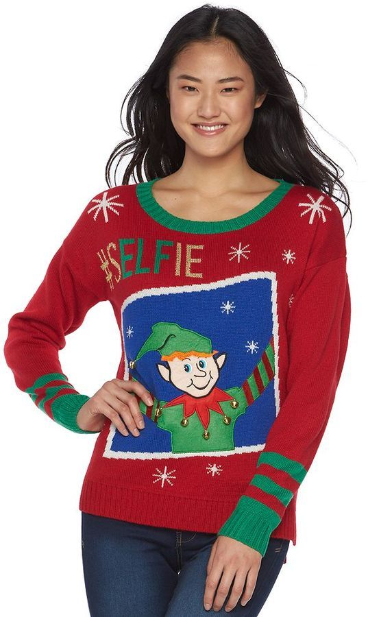 Juniors\' It\'s Our Time Musical Christmas Sweater | Ugly Christmas ...
