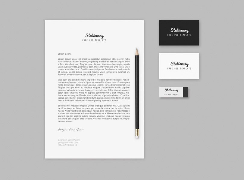 Branding Stationary Mock Up Template FreeMockUp From Ortheme