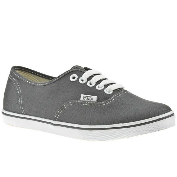 Grey vans, Vans authentic lo pro