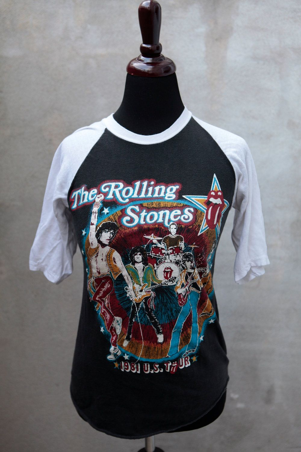 rolling stones tattoo 1981 tour shirt stone etsy shirts reserved tattoos sold extra