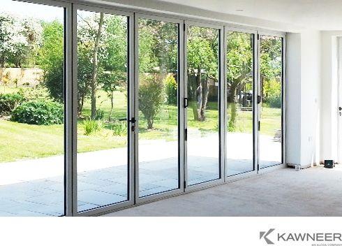 Kawneer aluminium folding door. | Extension | Pinterest | Bi folding doors and Doors & Kawneer aluminium folding door. | Extension | Pinterest | Bi ...