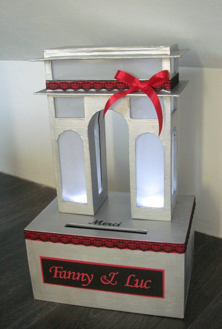 urne arc de triomphe idees et merveilles mariage th me. Black Bedroom Furniture Sets. Home Design Ideas
