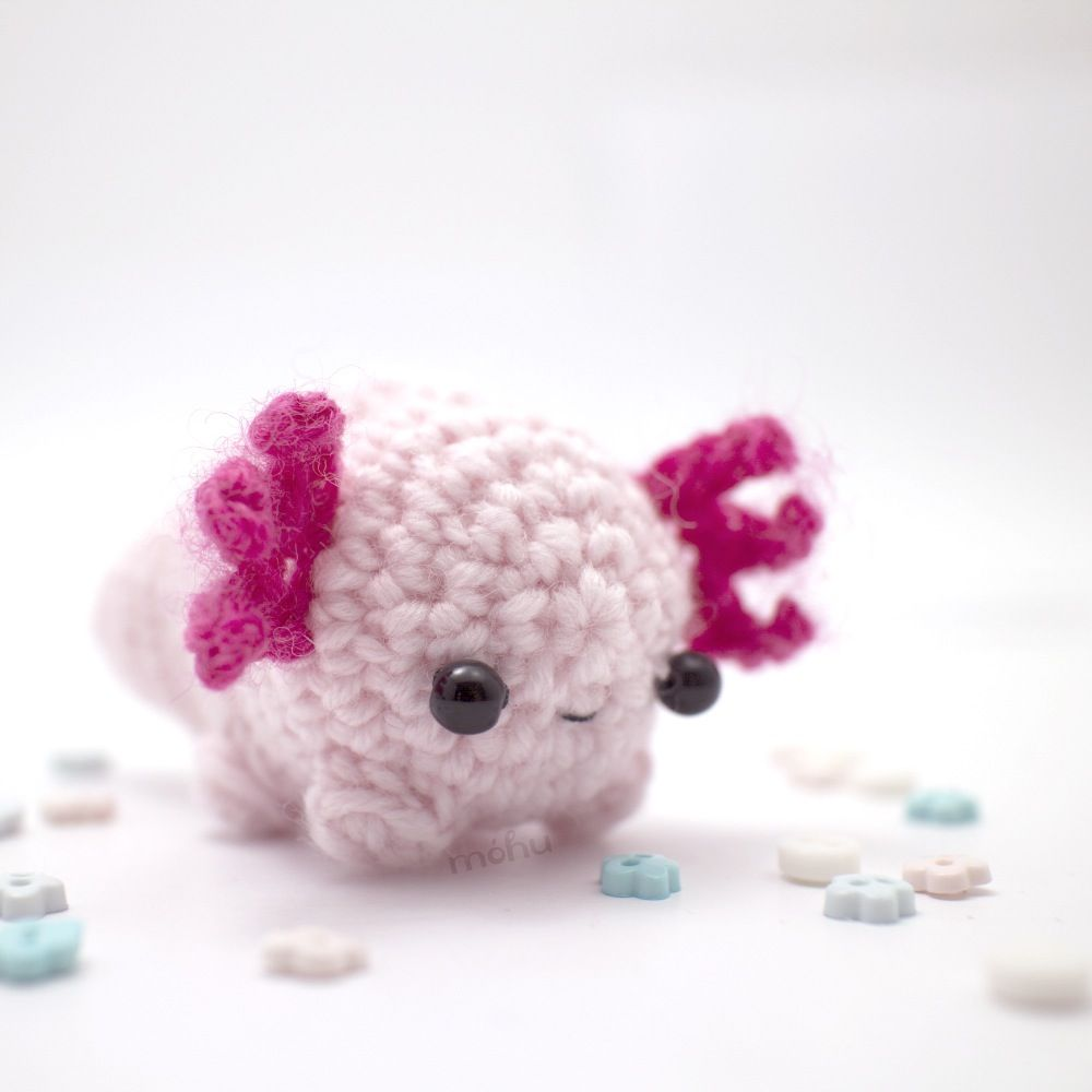 Axolotl plush from móhu | Ajolote | Pinterest | Nachgemacht, Häckeln ...