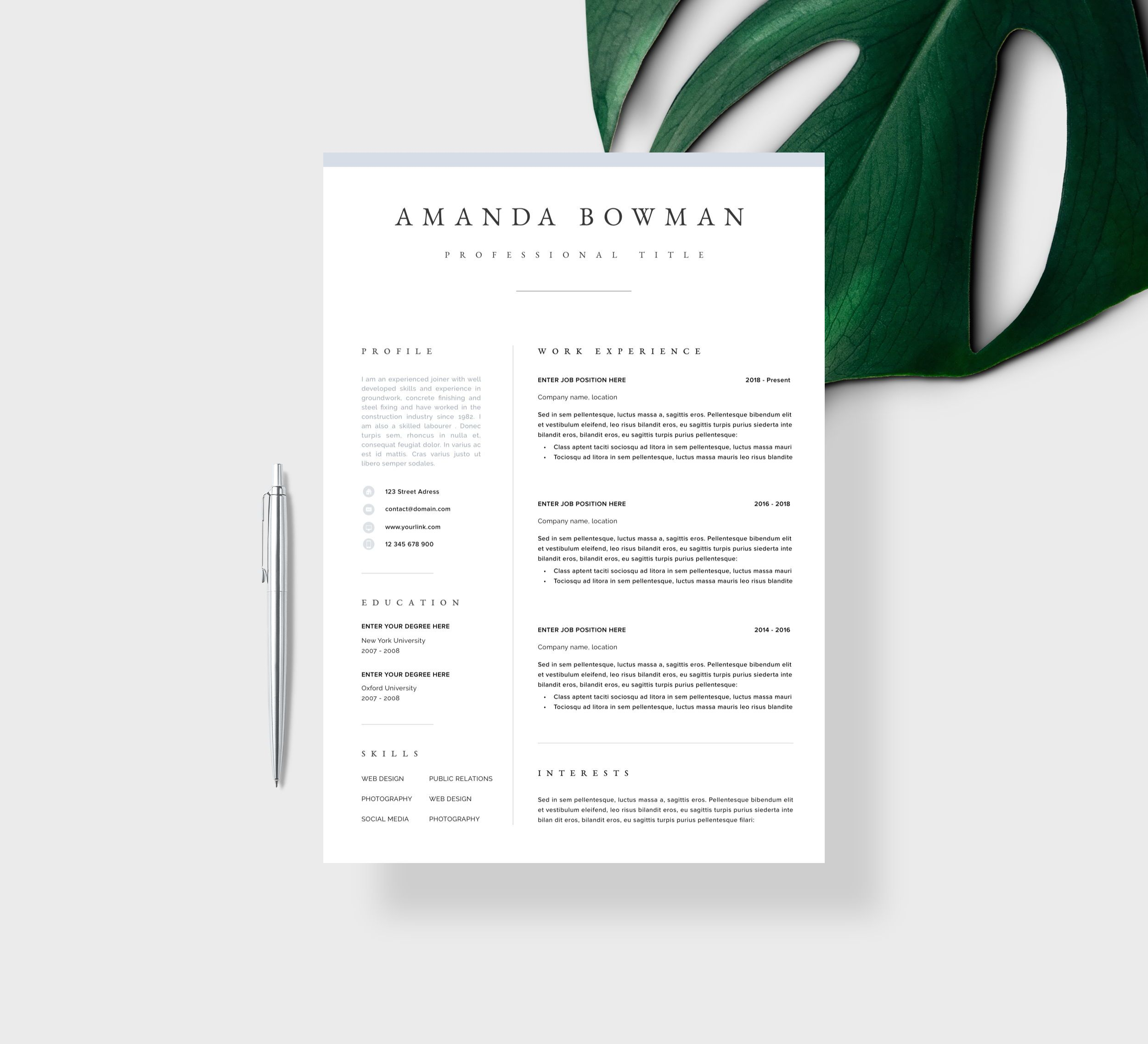 Resume Template Resume Cv Template Cv Design Curriculum Etsy Resume Template Professional Modern Resume Template Cv Template Professional