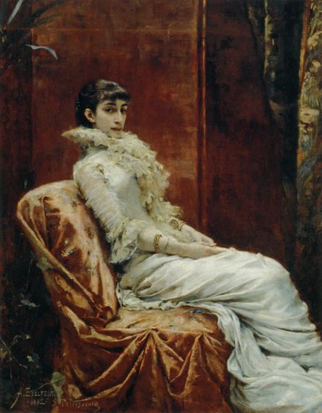 Rouva V.I. Mjatlevan Muotokuva (1882)
