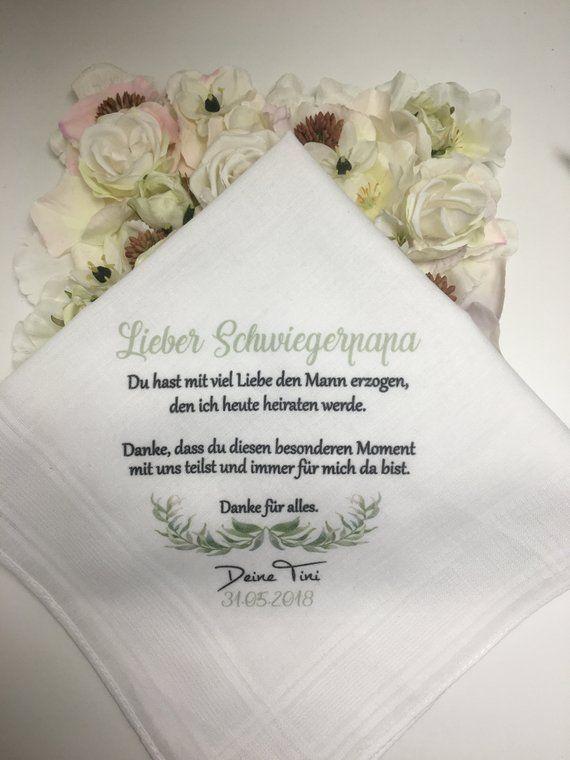 Handkerchief As Desired Printed With Desired Motif And Text For The Mother In Law Schwiegerpapa A Great Gift Surprise Taschentucher Taschentucher Hochzeit Geschenk Schwiegermutter