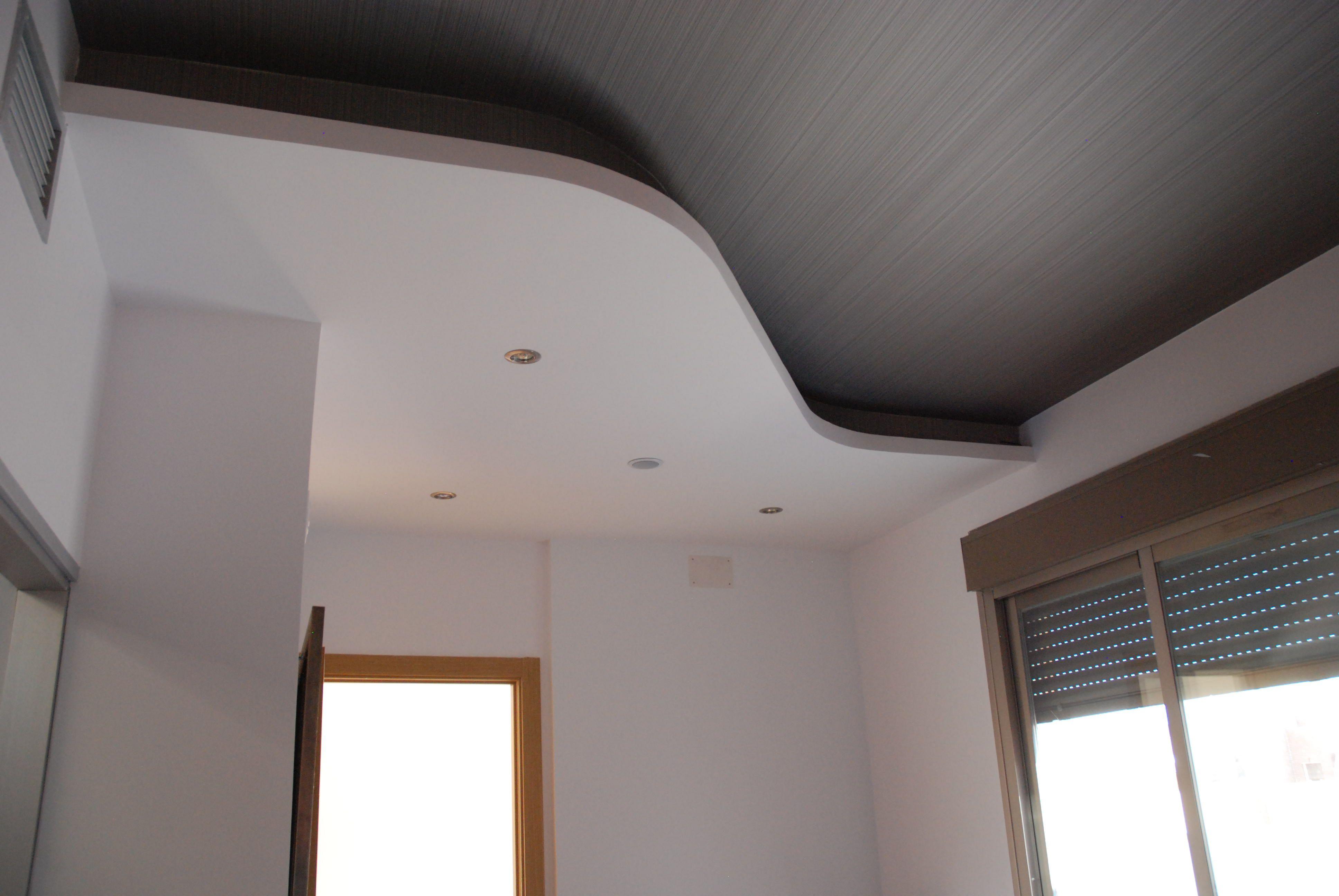 Generaci n de falso techo a dos alturas con foseado para - Focos empotrados techo ...