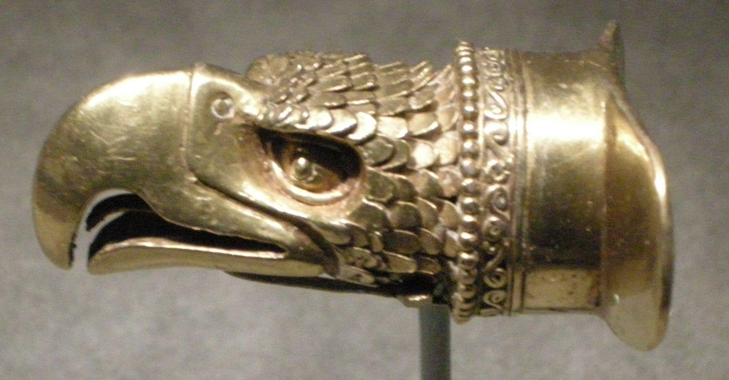 Cultura Mixteca Azteca Ornamento Labiale A Forma Di Testa Daquila