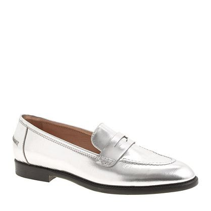 5333ff37ff5 J.Crew - Collection mirror metallic penny loafers