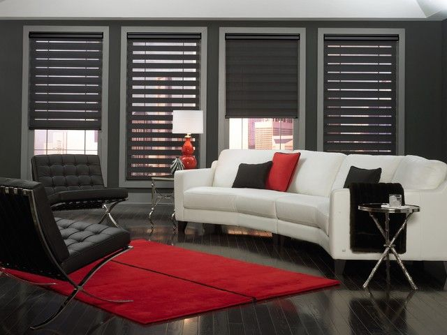 Beautiful Contemporary Window Treatments Budget Blinds