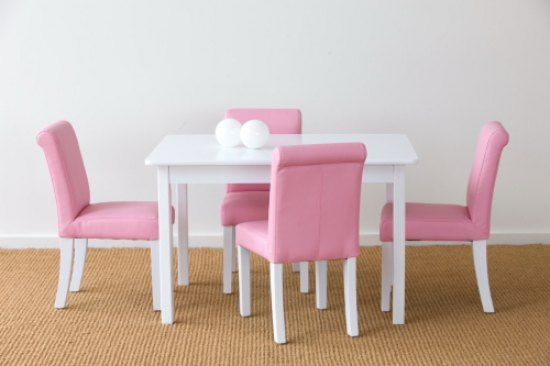 Kids Wooden Table And Chairs Childrens Toddler White Chair Set Online In Australia