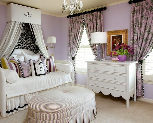 Did you know that yesterday was Purple Day? Purple Day is an international grassroots effort dedicated to increasing awareness about epilepsy worldwide. So in belated honor of Purple Day, I bring you 40 fabulous purple bedrooms. Gwyneth Paltrow's bedroom Traditional Home Phoebe Howard  Phoebe Howard  Andrew Raquet via Leontine Linens, see above Sharon Osbourne's …
