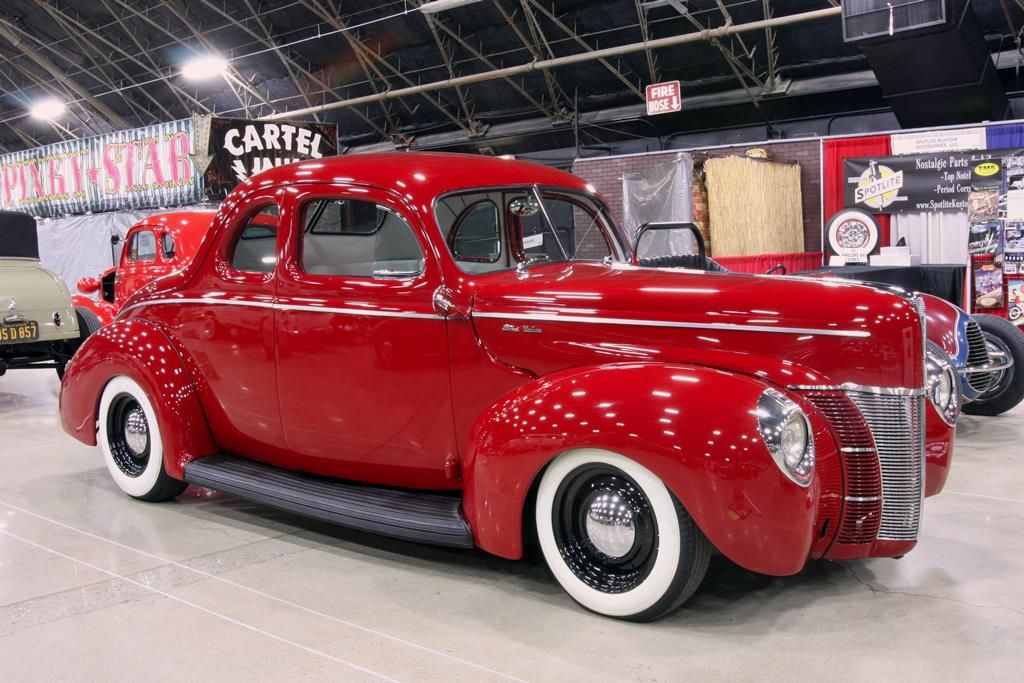 1940 Ford Coupe Traditional Hot Rod 1940 Ford Coupe Red Car