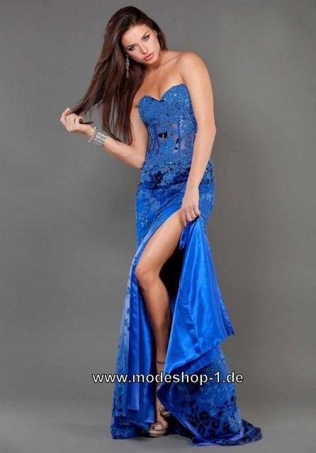 Bodenlanges Abendkleid in Royal Blau | Dress | Pinterest