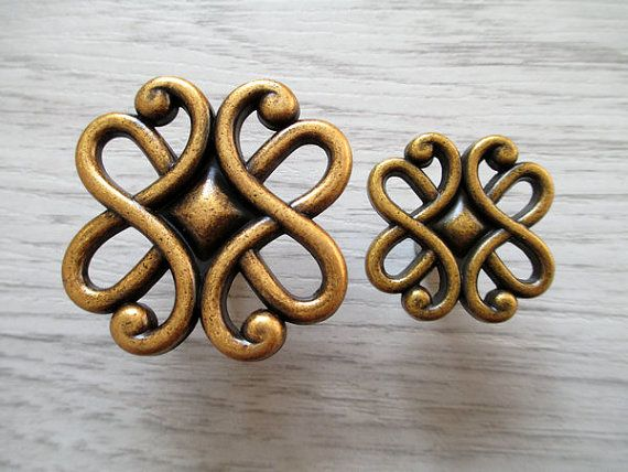 Dekorative Kommode Schublade Knöpfe zieht Griffe Antik Messing - schubladen für küchenschränke