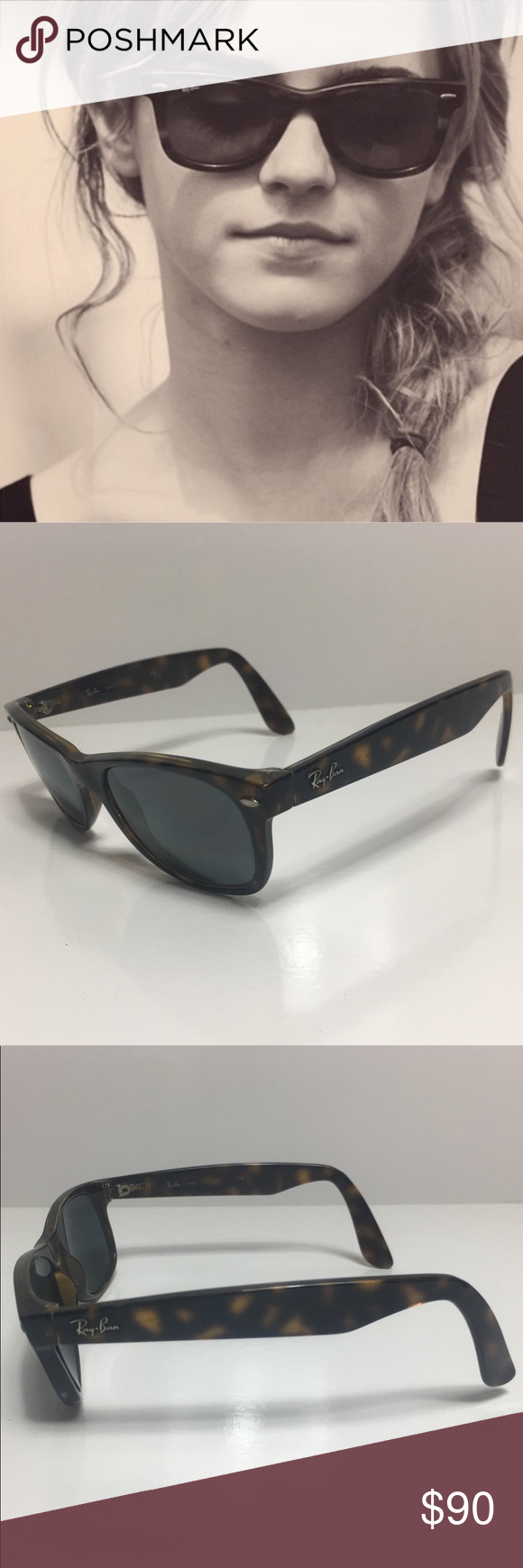 58afc075bd Ray-Ban New Wayfarer Havana Sunglasses 🇮🇹 Ray-Ban New Wayfarer Sunglasses Tortoise  RB2132 902 52-18 The New Wayfarer RB2132 902 52-18 is a modern and ...