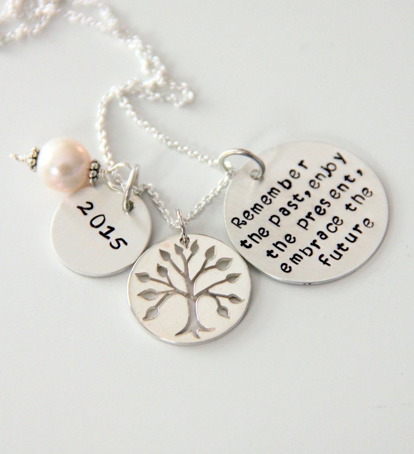 Retirement Necklace For Mom Co Worker Gift By Whiteliliedesigns