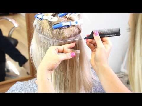 Diy Tape In Hair Extensions Tutorial You