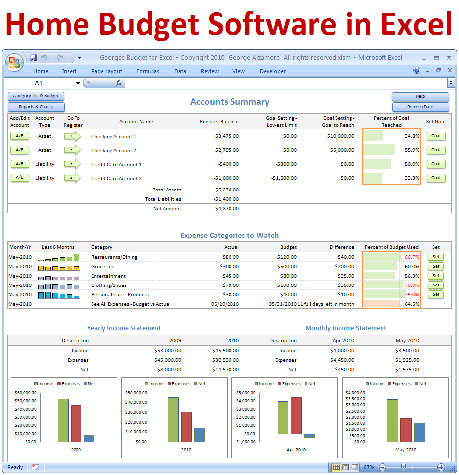 free software to keep track of finances