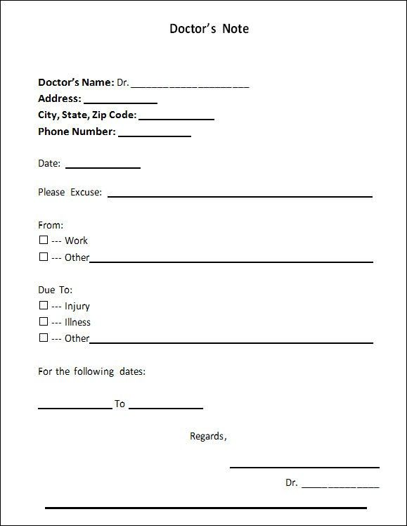 Doctors Note Template - 21+ Download Free Documents in PDF , Word - address change template