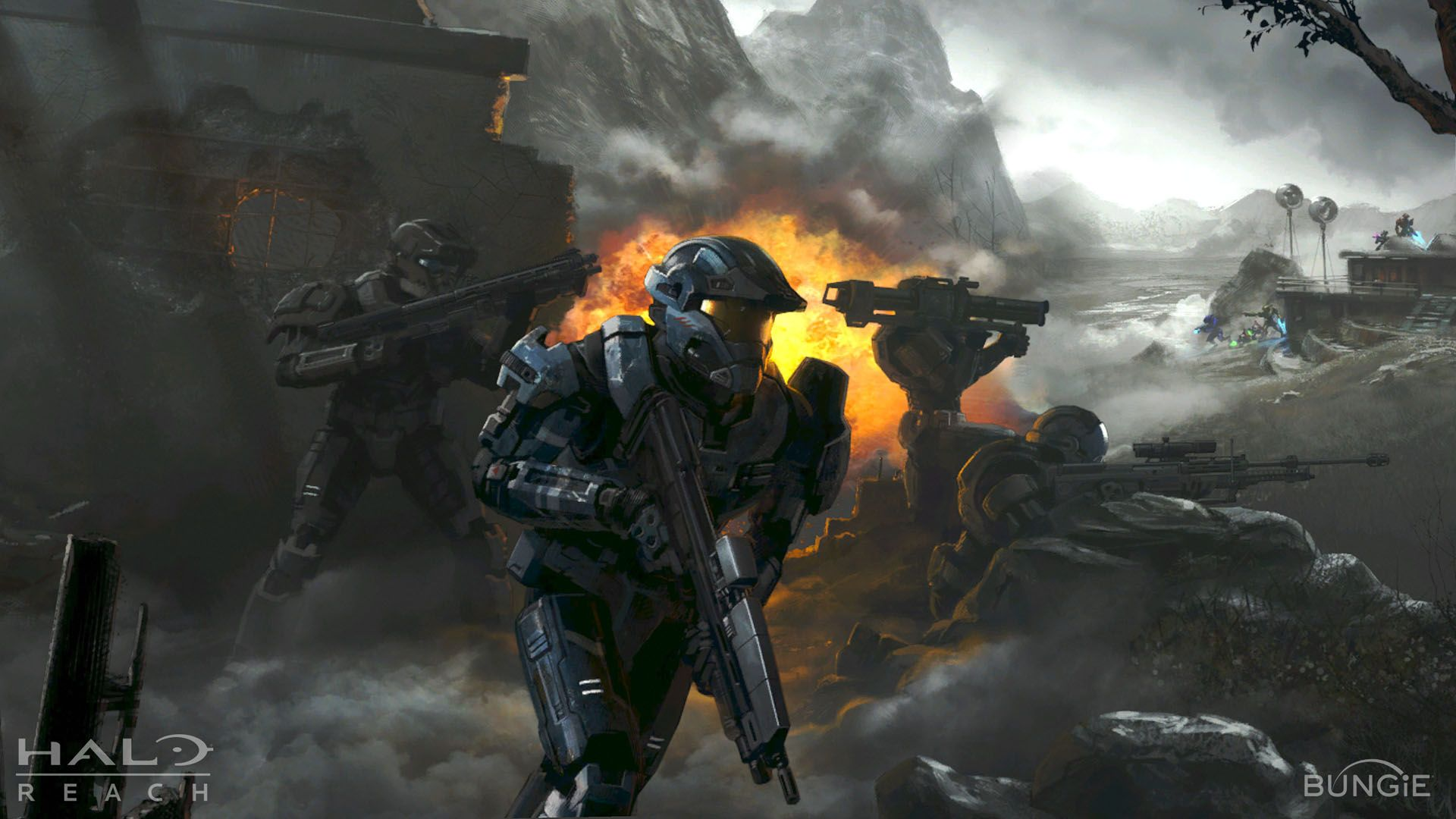Halo Reach Concept Art 1920x1080 Wallpapers Halo Reach Halo