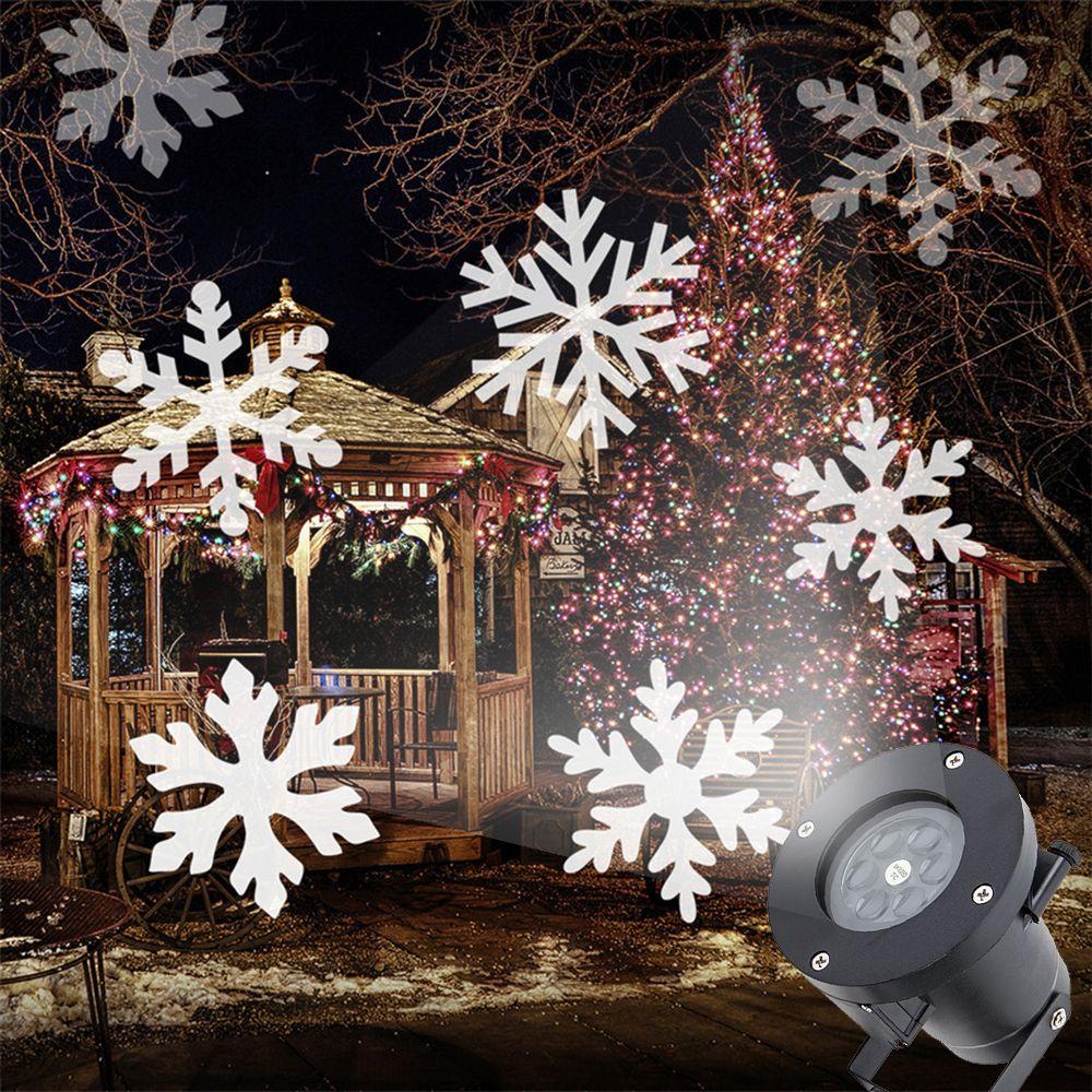Christmas Snowflake Laser Light Snowfall Projector Moving Snow Garden Laser Projecto Halloween Christmas Decorations Christmas Decorations Christmas Snowflakes