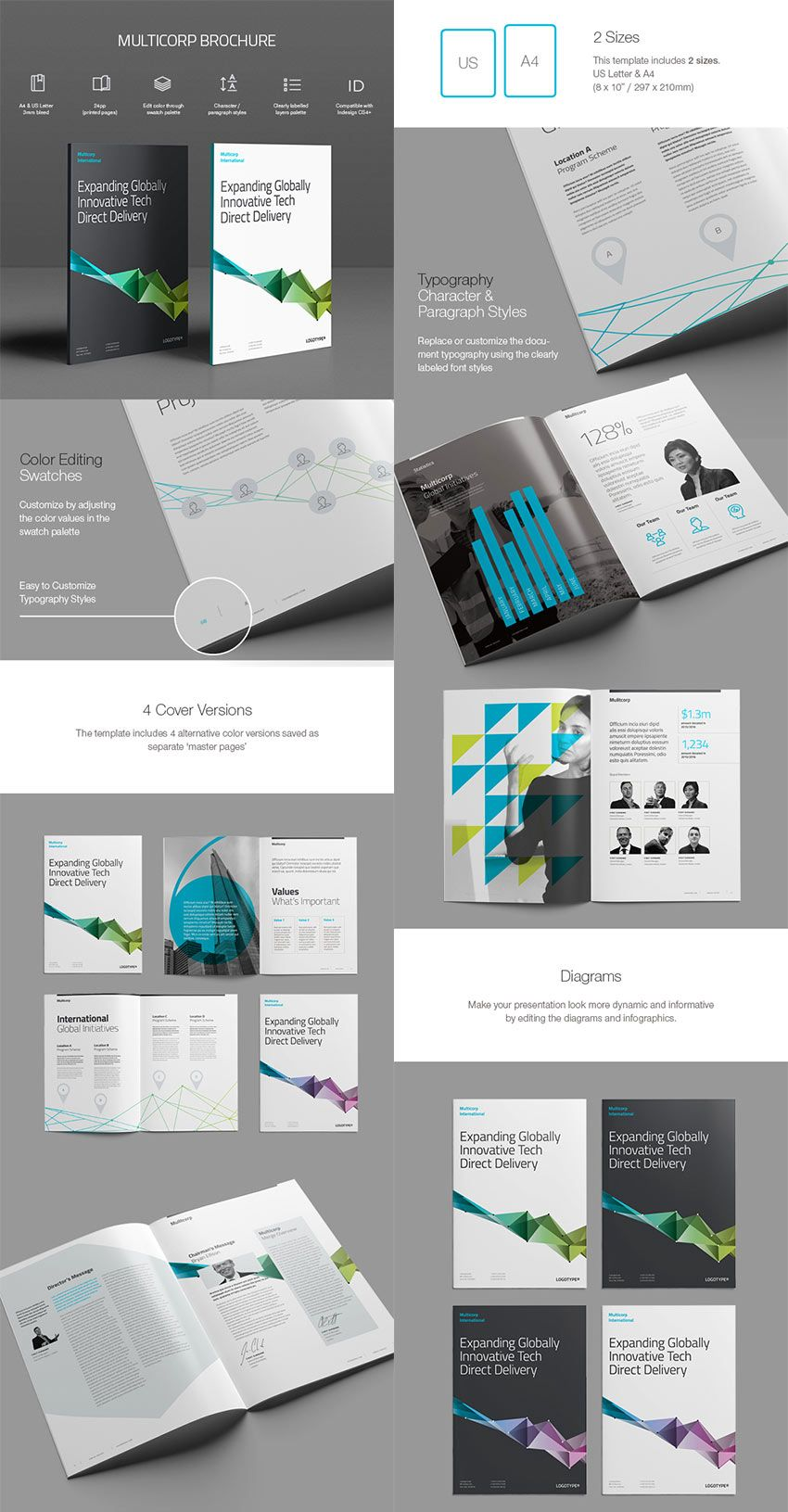 Best InDesign Brochure Templates For Creative Business - Marketing brochures templates