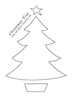 Christmas Tree Stencil from www.all-about-stencils.com | Christmas ...