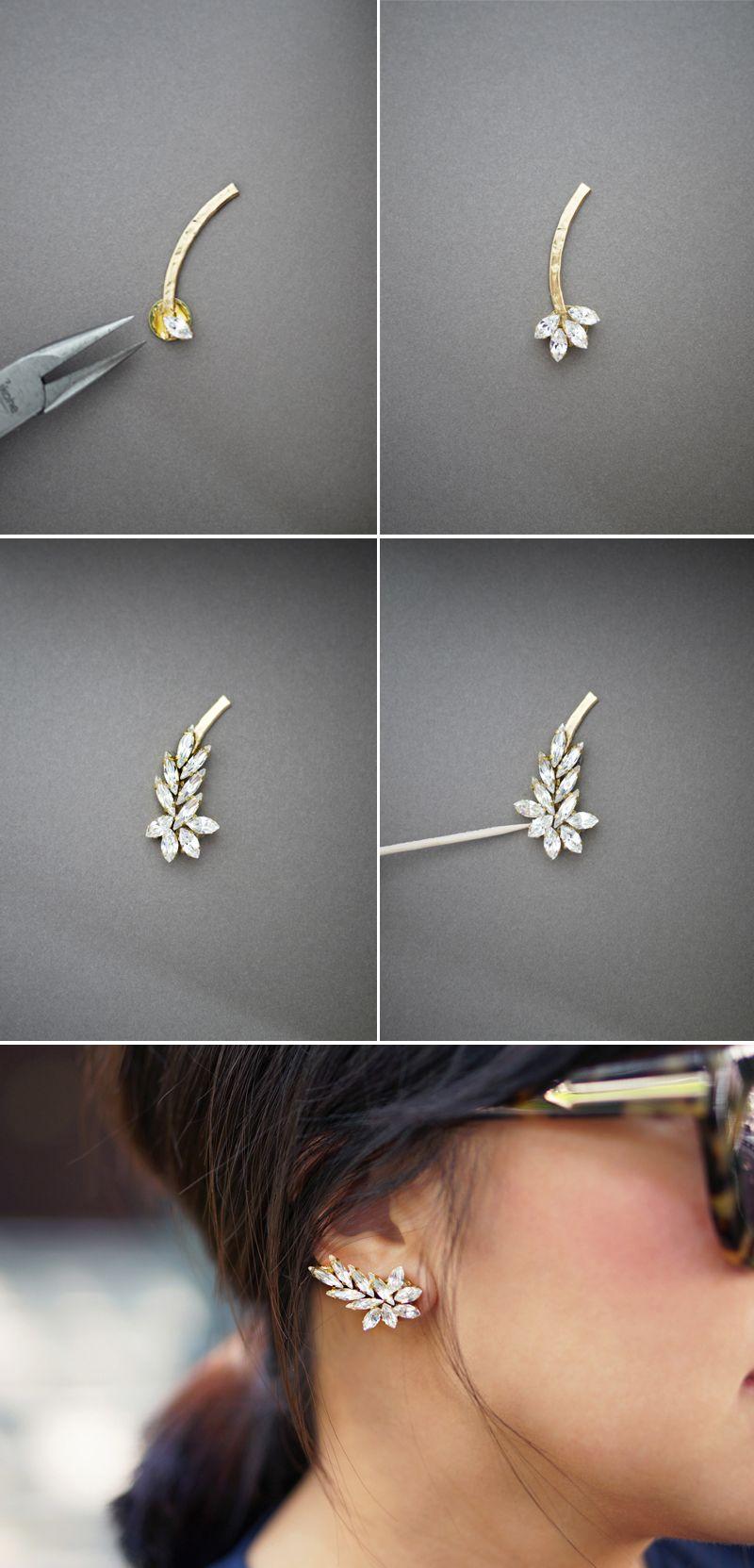 Diy Ear Cuff We Love Pinterest Jewelry Earrings Hazel Glass Eye Silver Wire Wrap Pendant By Kimsjewels On Etsy Tutorial From Honestly Wtf Howto