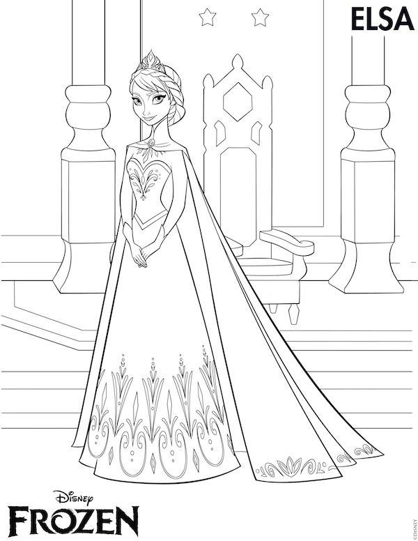Free Frozen Printables Coloring Pages Elsa Crown Anna Invitations Stickers Thank You Tags Games