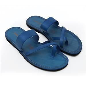 Vendita Sandalo infradito pizzica blu da uomo Taglia 40 - sandalishop.it