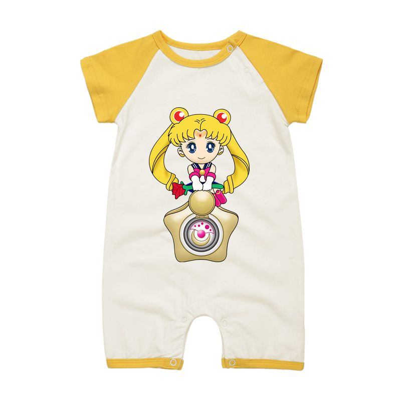 2017 Fashion New Baby Girls Romper Jumpsuit Sailor Moon