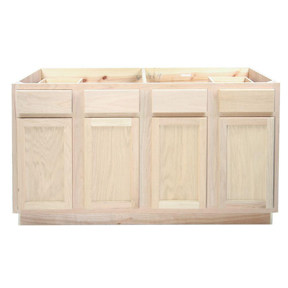 Best Kitchen Sink Base Cabinet 60Unfinished Oak Kitchen 400 x 300