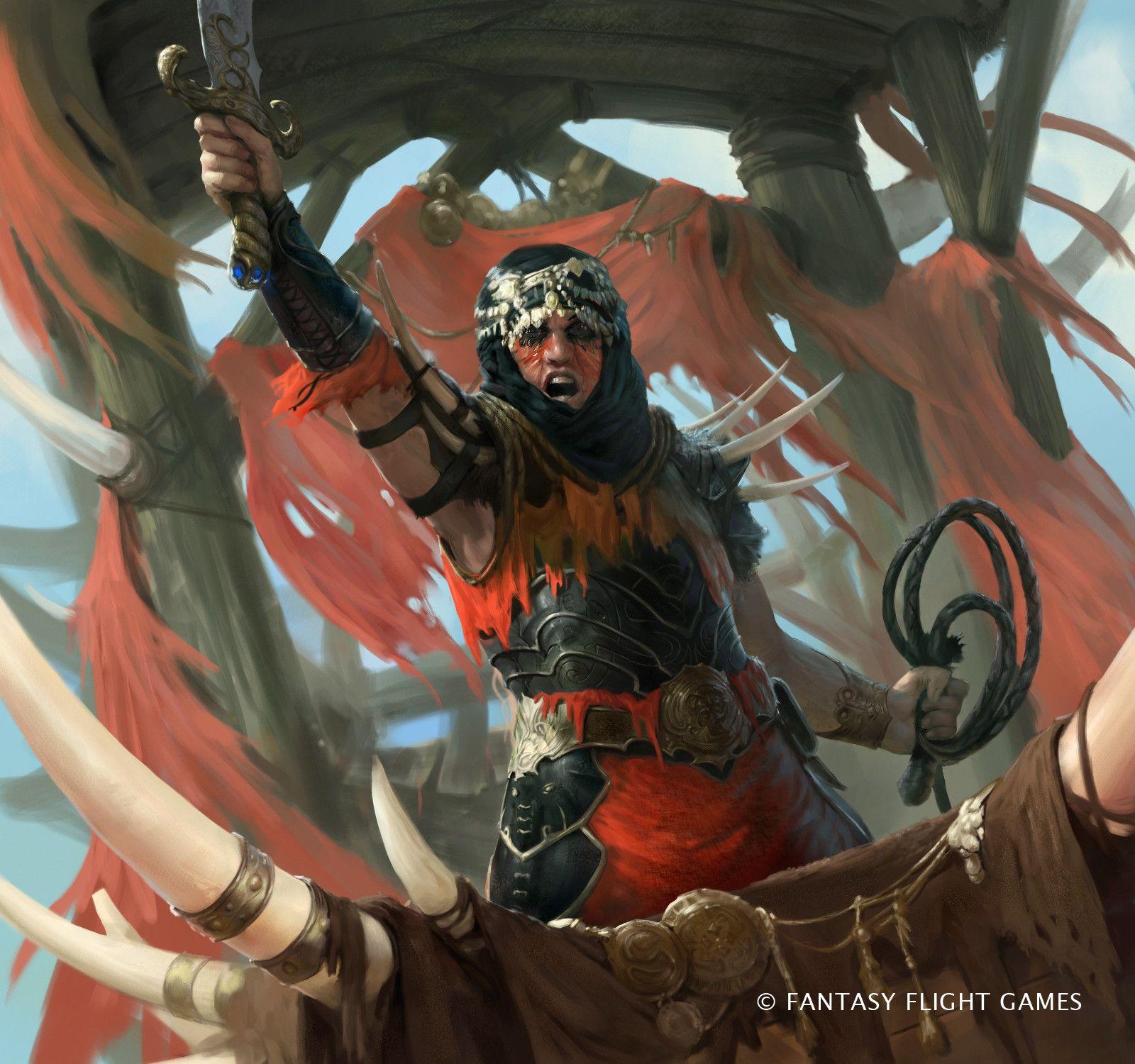Haradrim Captain, Guillaume Ducos on ArtStation at https