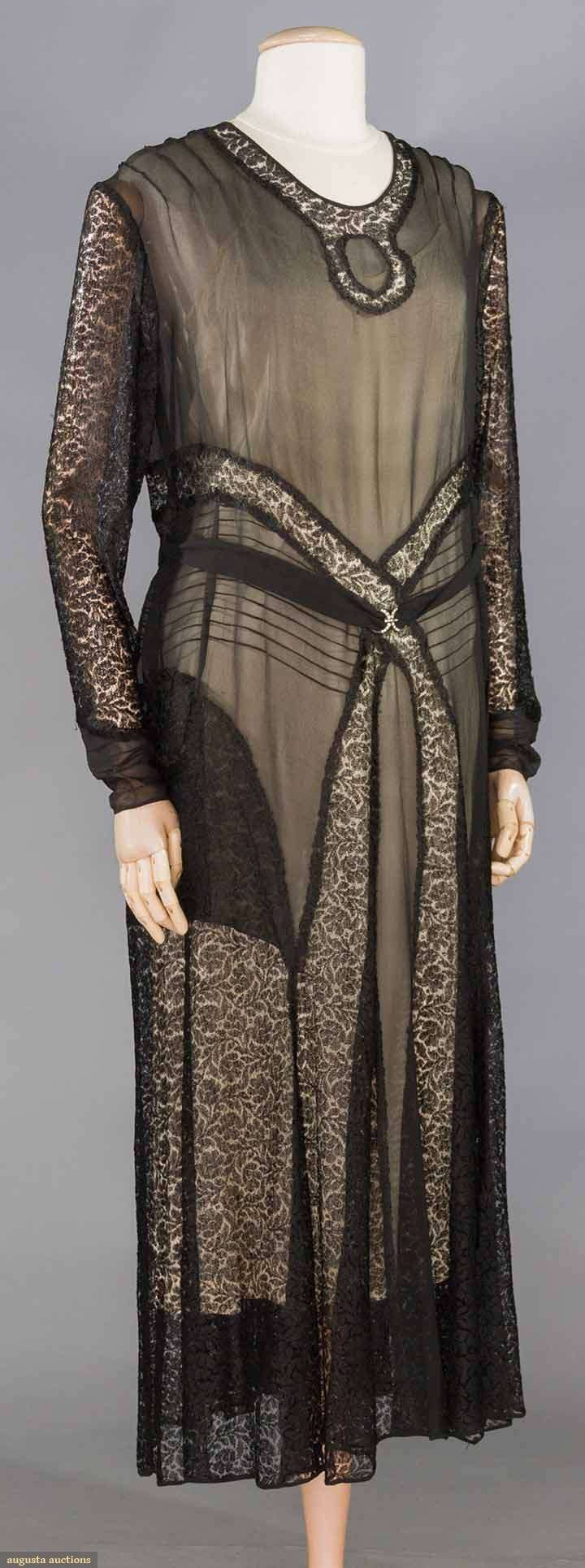 Black lace evening gown lace gown w chiffon inserts long