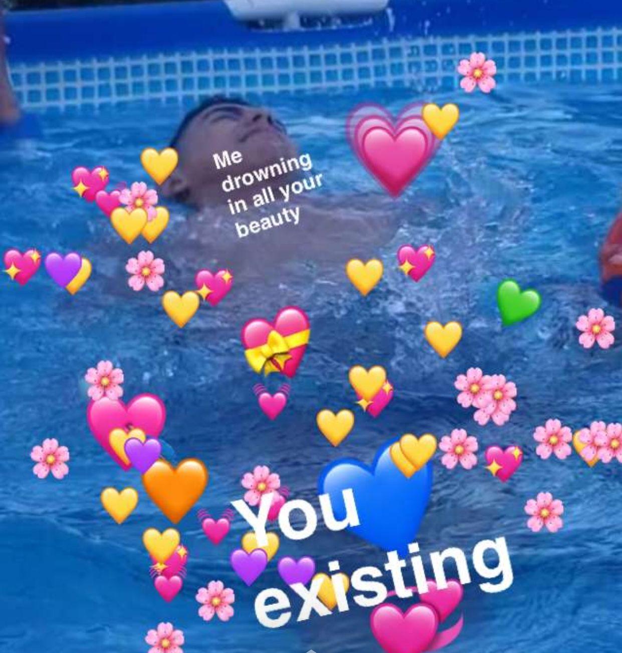 Sad Cat Heart Emoji Meme