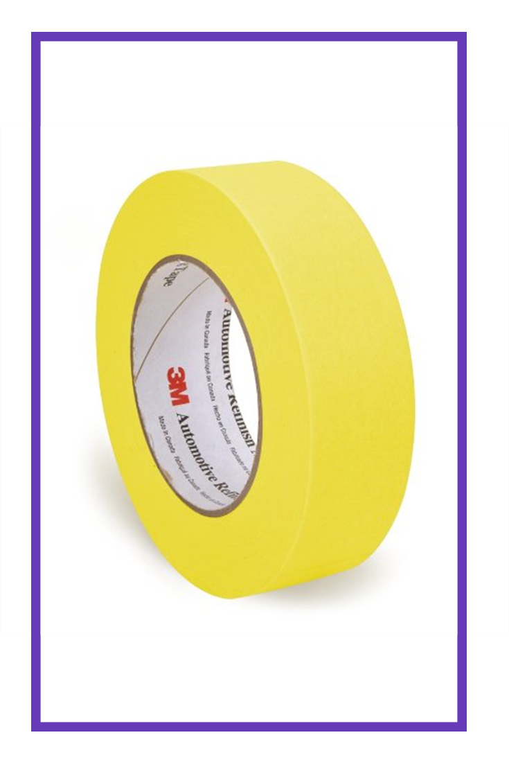 3m 06654 Refinish Masking Tape 36 Mm X 55 M Yellow 24 Pack Hot Masking Tape Tape Refinished