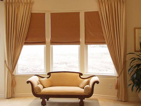 Bay Window Curtain Ideas these are pictures gallery of basic bay