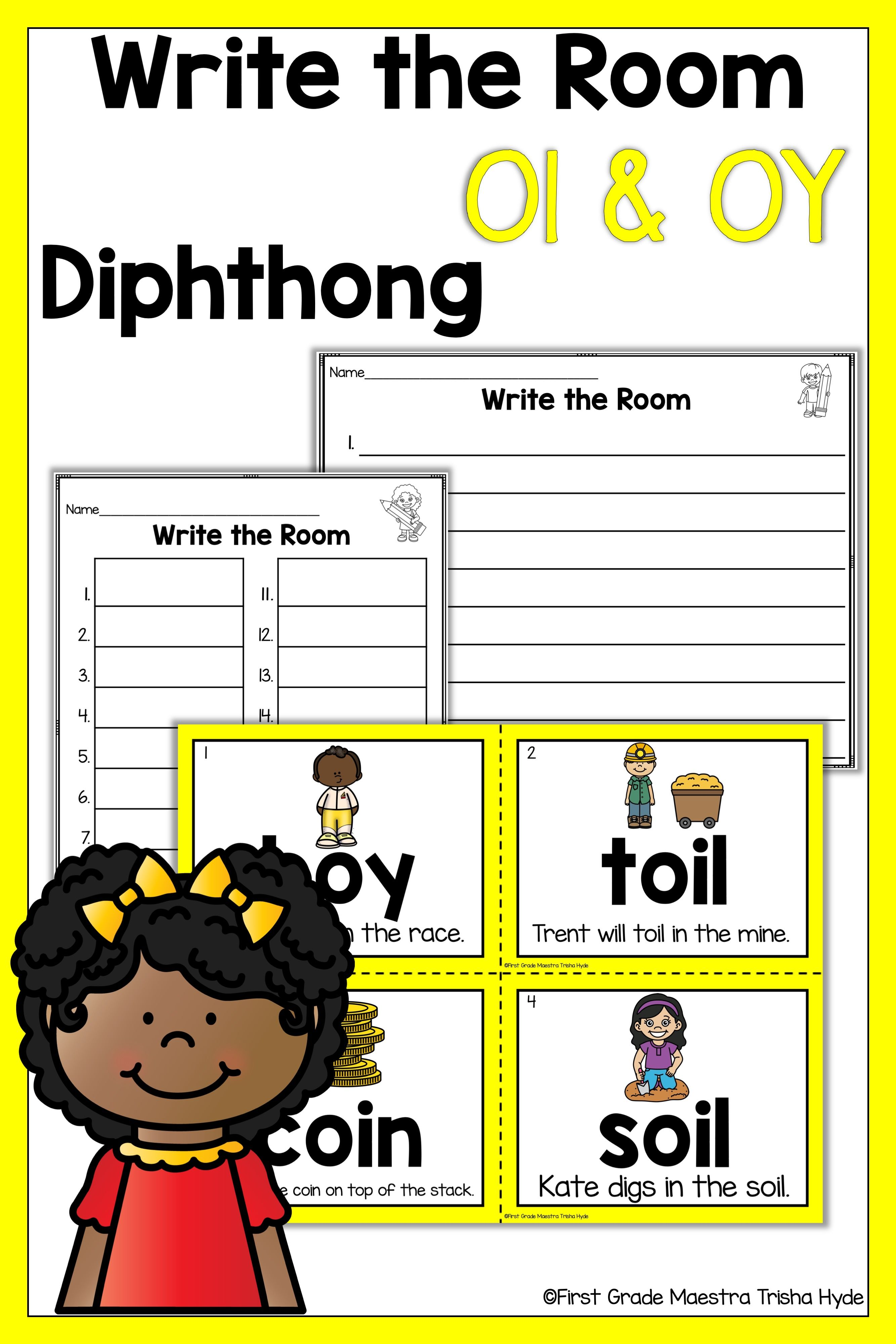 Write The Room Diphthongs Oy And Oi
