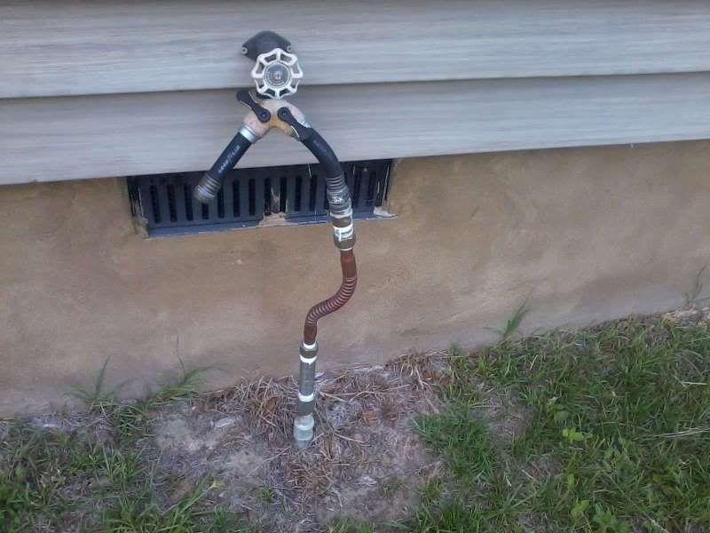 outside garden hose faucet