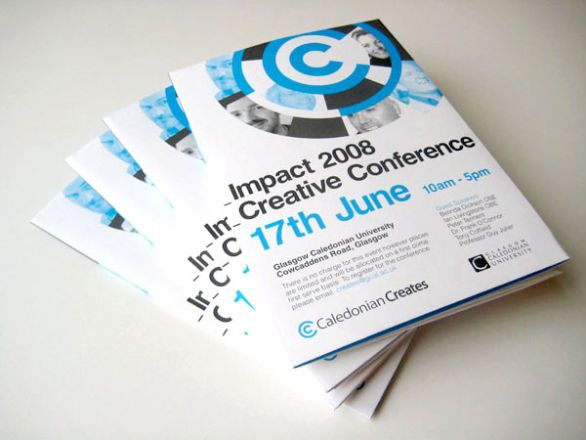 Brochure Impact 2008 Creative Conference #design #inspiration - brochure design idea example