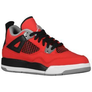 innovative design ad7ca 6eb63 Jordan Retro 4 - Boys' Preschool - Fire Red/White/Black/Cement Grey ...