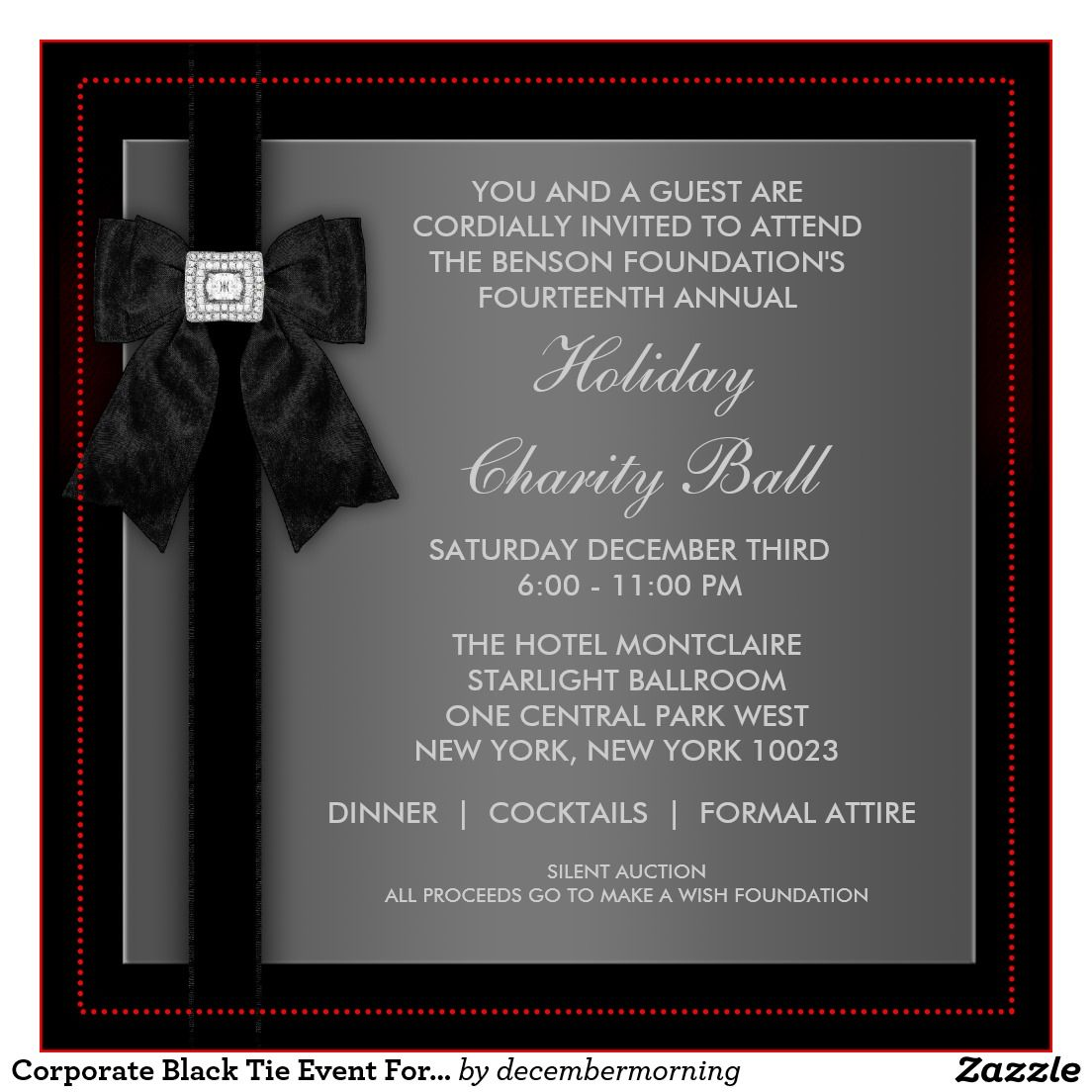 Create Invitation Template: Formal Event Invitation Card Sample