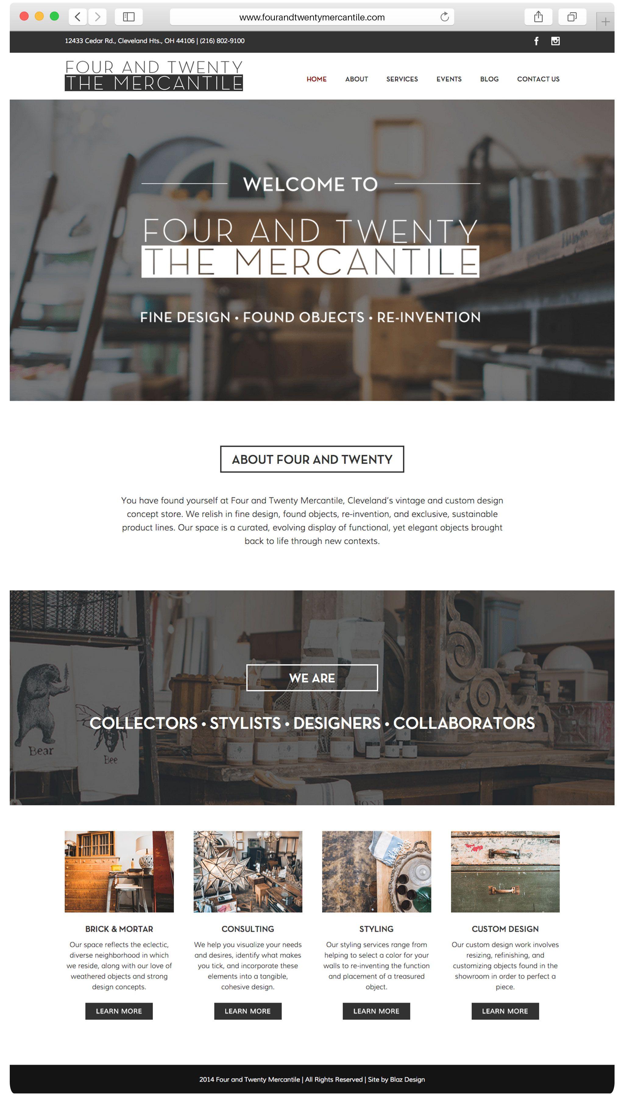 Cleveland Oh Web Design Graphic Design Portfolio Web Design Web Graphic Design Vintage Concepts