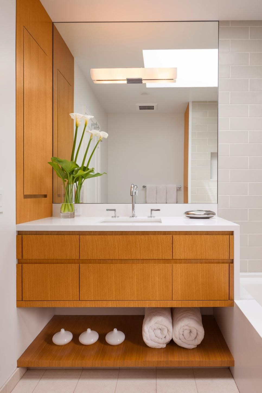 Rooms Viewer Waterfall Countertop Floating Vanity Small Bathroom [ 1449 x 966 Pixel ]