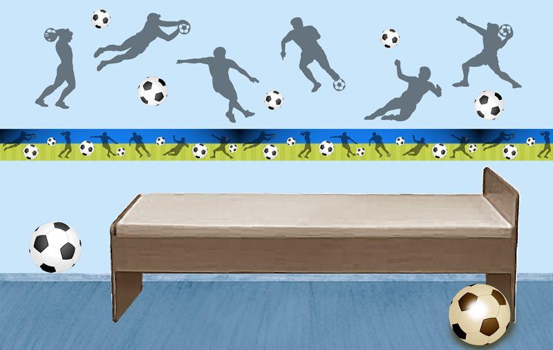 Fußball Wandtattoos + Bordüren • Mein Bordürenladen - Dawanda