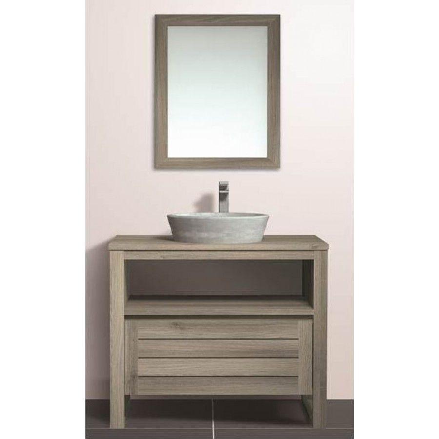 charmant Meuble salle de bain BOREA 80cm