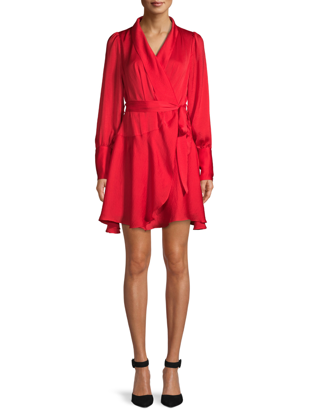 Free 2 Day Shipping On Qualified Orders Over 35 Buy Love Sadie Women S Long Sleeve Wrap Dress At Walmart Co Long Sleeve Wrap Dress Stylish Dresses Wrap Dress [ 1333 x 1000 Pixel ]