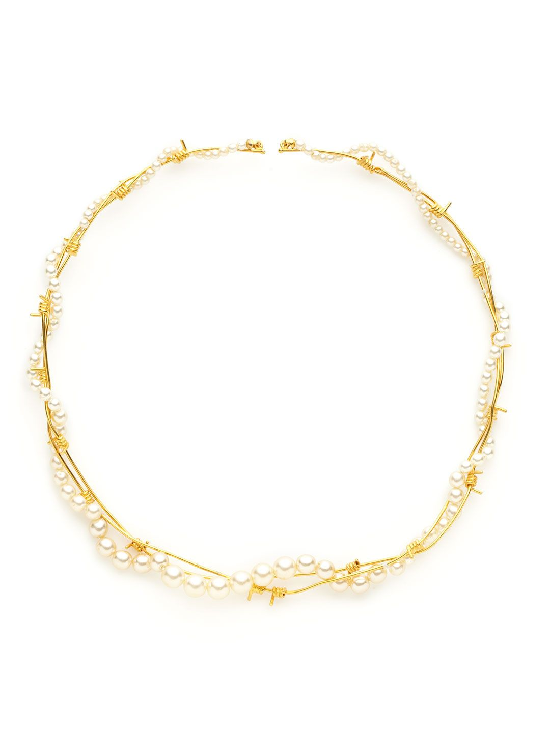 Tom Binns Pearlous Gold Barbed Wire Collar Necklace | JOAILLERIE ...