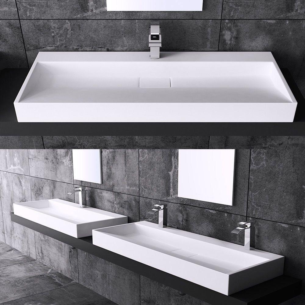 Details zu Luxus Design Gussmarmor Waschbecken Stand Waschtisch ...